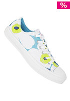 CONVERSE Womens Chuck Taylor All Star Premium Ox Cotton white/bleu/lime