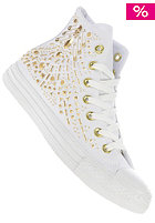 CONVERSE Womens Chuck Taylor All Star Rhinestone Hi Canvas wht/gold