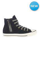 CONVERSE Womens Chuck Taylor Side Zip Hi black