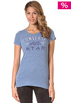 CONVERSE Womens Converse All Star Crew S/S T-Shirt r. blue heather
