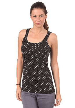 CONVERSE Womens Dotted CT Patch Long Top black