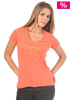 CONVERSE Womens Logo V S/S T-Shirt hot coral heather