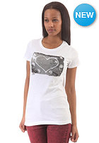 CONVERSE Womens Photo Heart Crew T-Shirt bright white