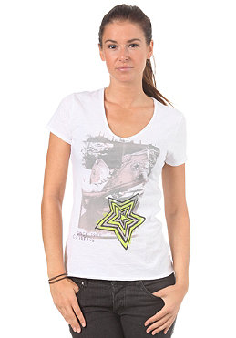 CONVERSE Womens Photo Star V-Neck S/S T-Shirt bright white