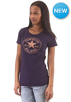 CONVERSE Womens Stamped Chuck Patch T-Shirt black grape