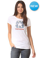 CONVERSE Womens W1 Americana Box Star S/S T-Shirt optic white
