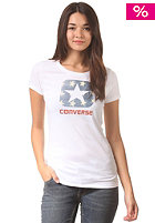CONVERSE Womens W1 Americana Box Star S/S T-Shirt optic white