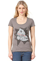 CONVERSE Womens WT May Chucks Scoop S/S T-Shirt charcoal grey