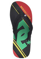DC Central Graffik Sandals rasta gradient