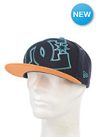 DC Double Up Snapback Cap black iris/wheat