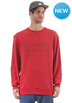 DC Ghostron Crew Sweat heath deep red