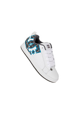 DC Kids Court Graffic SE white/turquoise/textil