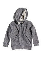 DC Kids Rebel Hooded Zip Sweat dark heath grey