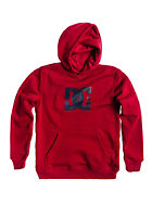 DC Kids Star Hooded Sweat deep red