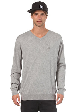 DC Lafferty Slim Fit V-Neck Sweatshirt heather grey