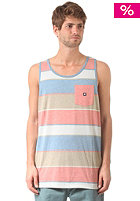 DC Peabody S/S T-Shirt org rust stripe