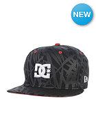 DC RD Star Snapback Cap black palm print