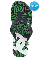 DC Snap Graffik Sandals blk/green print