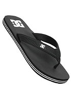 DC Snap Sandals black/white