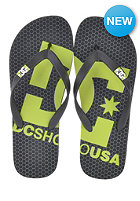 DC Spray Logo Sandals blk / soft lime