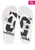 DC Spray Logo Sandals white/black
