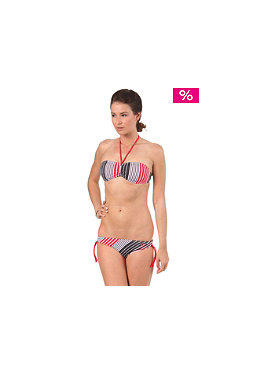 DC Womens Astoria Halter Bikini lipstick red