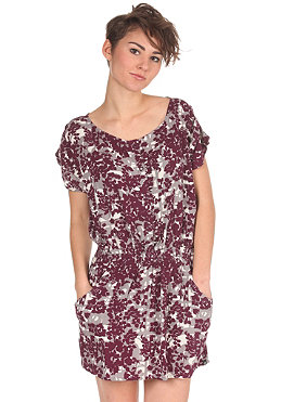 DC Womens Manny Printed Dress pot purple