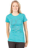 DC Womens Twine S/S T-Shirt blue grass