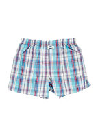 DEAL Check Boxershort orig.wei�/t�rkis/blau/rot gro�