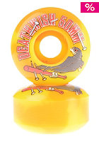 DEATHWISH Wheels Double Play Set 50mm yellow swirl
