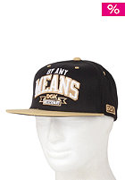 DGK By Any Means Snapback Cap black/gold