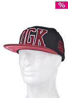 DGK Dugout Snapback Cap Black/Red