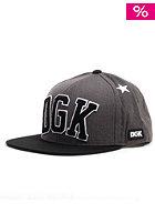 DGK Worldwide Snapback Cap charcoal heather/black