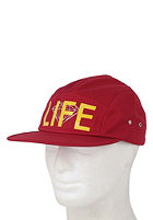 DIAMOND 5-Panel Life Snapback Cap burgundy