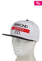DIAMOND Bar Logo Snapback Snapback Cap white/black