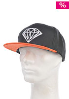 DIAMOND Brilliant Snapback Cap black/orange