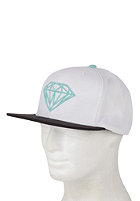 DIAMOND Brilliant Snapback Cap white/black