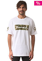 DIAMOND Camo Box Logo S/S T-Shirt white