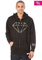 DIAMOND Camo Rock Logo Hooded Zip Sweat black