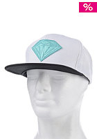 DIAMOND Emblem Snapback Cap white/black