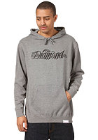 DIAMOND Giant Script Hooded Sweat heather grey