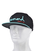 DIAMOND OG Script Snapback Cap black/diamond blue