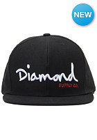 DIAMOND OG Script Snapback Cap black/white