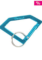 DIAMOND Rock Carabiner Key Chain diamond blue/silver