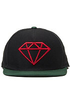 DIAMOND Rock Logo Snapback Cap black/green/red