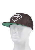 DIAMOND Rock Logo Snapback Cap brown