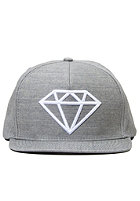 DIAMOND Rock Logo Snapback Cap grey/white