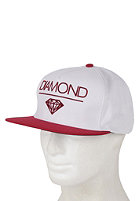 DIAMOND Whitespace Snapback Cap white/red