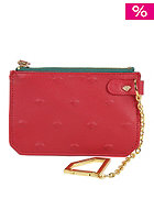 DIAMOND XL Embossed Chain Pouch Wallet red