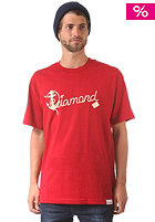 DIAMOND Yacht Script S/S T-Shirt cardinel red